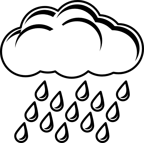 Cloud With Rain Outline Clip Art At Vector Clip Art