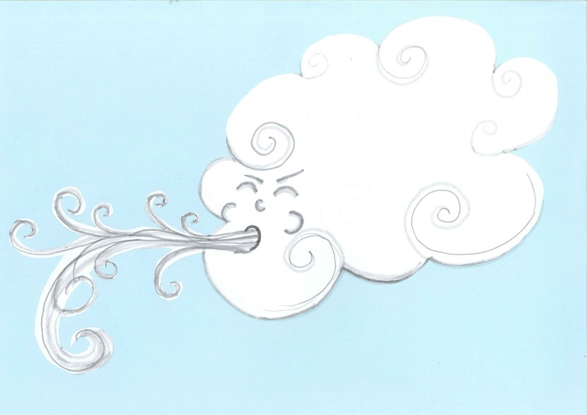 Cloudy And Rainy Clipart