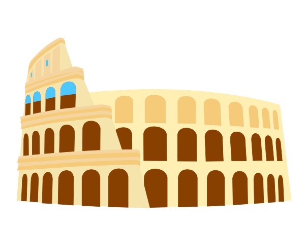 Colliseum Rome Italy Clip Art At Vector Clip Art