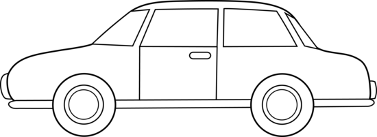 Colorable Car Line Art Free Clip Art