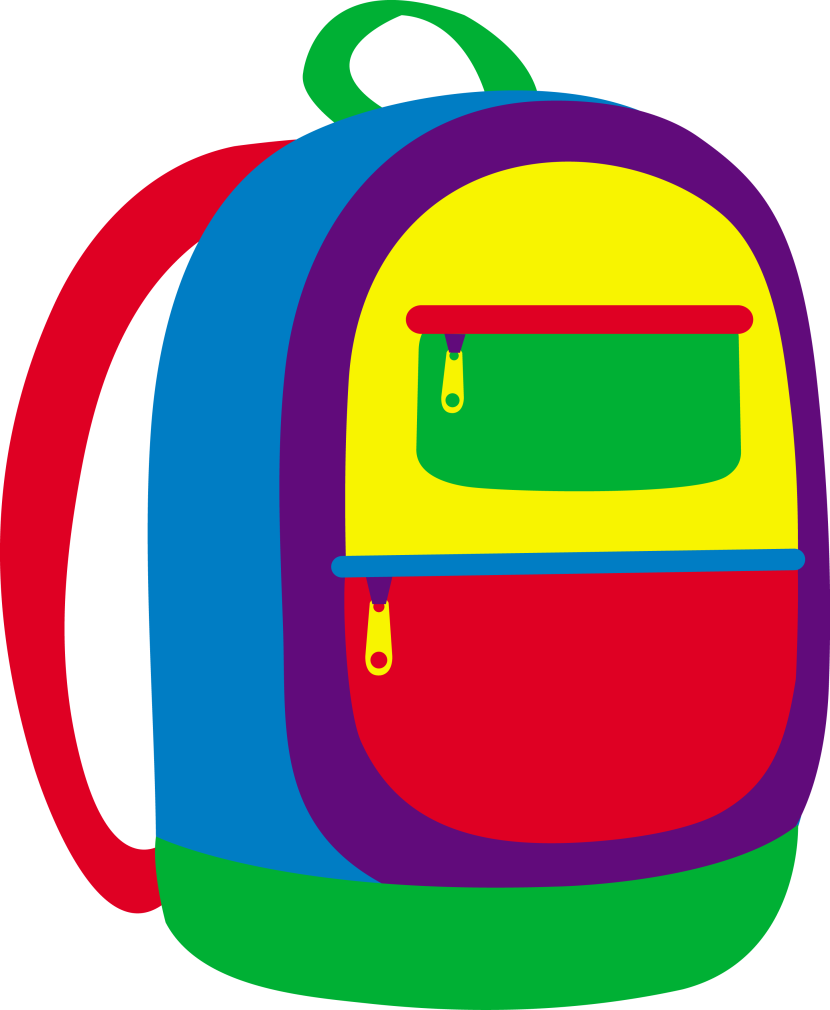 Colorful Childrens School Backpack Free Clip Art