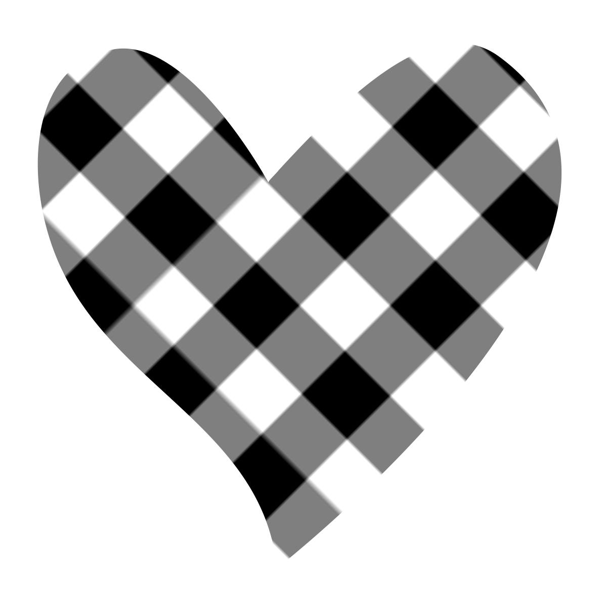 Heartbeat Png Transparent Black: Best Black And White Heart Clipart #20633