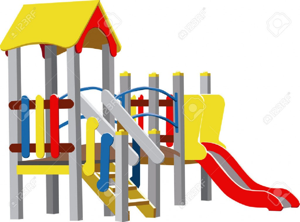 Colour Vector Children Playground Royalty Free Cliparts Vectors