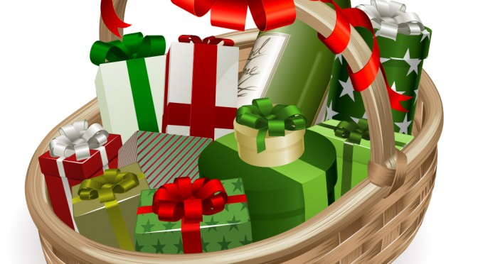 Clip Art Christmas Basket : Gift basket clip art clipartion