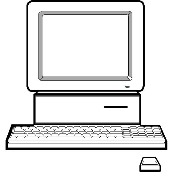 Computer Clipart Black And White Free Clipart Images
