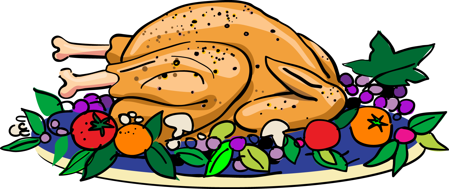 Cooked Turkey Clip Art