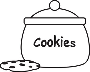Cookie Jar Clipart Black And White Free Clipart
