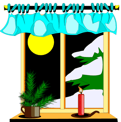 Cool Christmas Window Clipart To Bookmark Imagegator