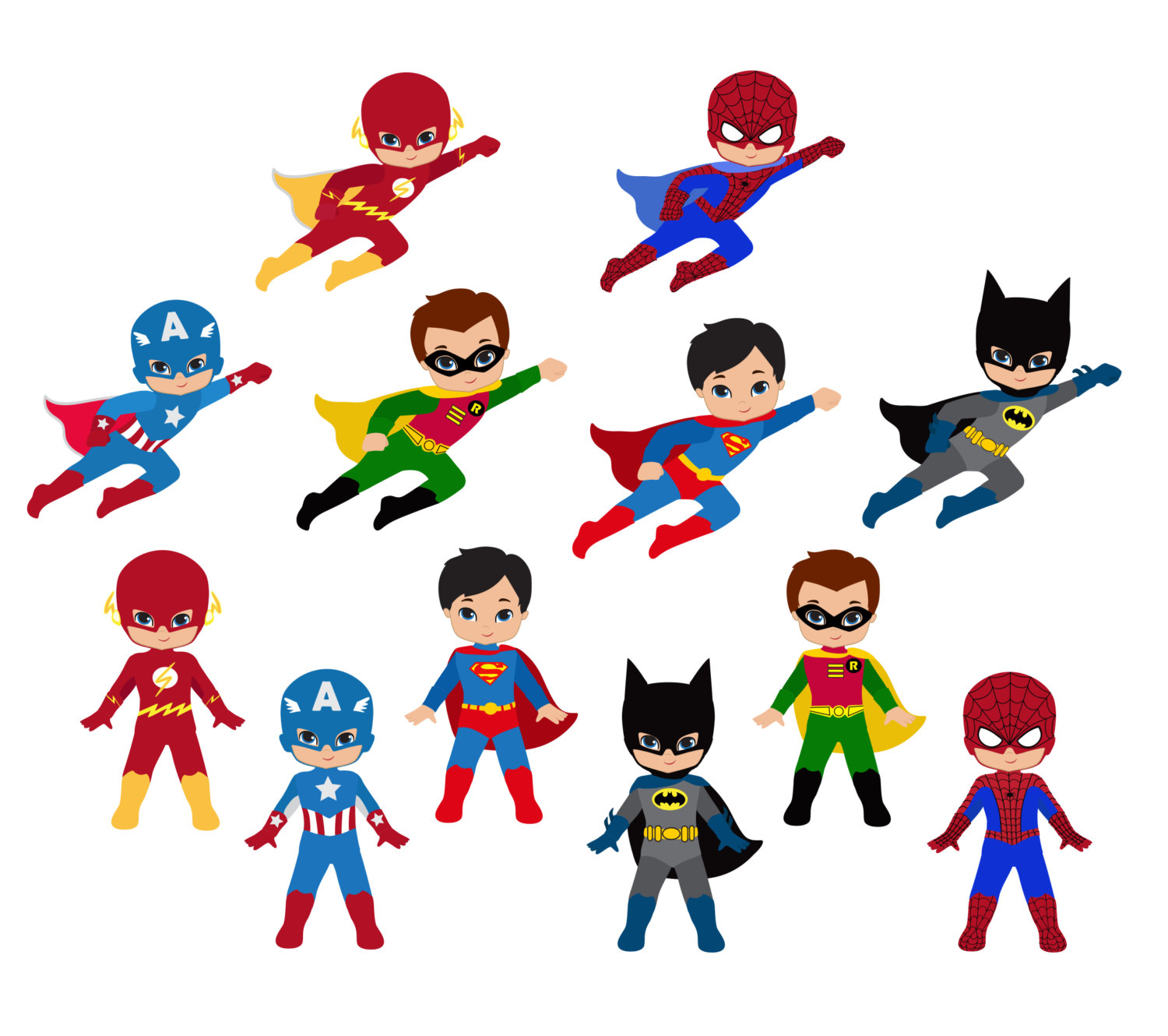 Cool Superhero Clipart
