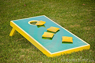 Corn Hole Game Stock Vector Image