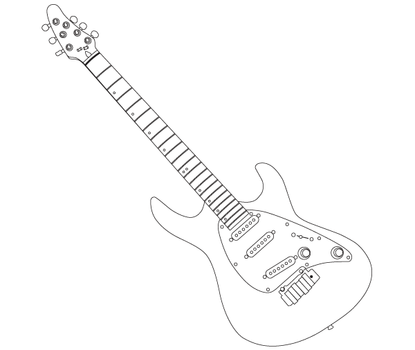 Cort Guitar Outline Vector Image Freevectors