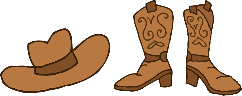 Cowboy Hat And Boots Clipart Free Clip Art