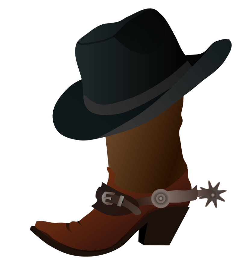 Cowboy Hat Clipart Black And White Free Clipart
