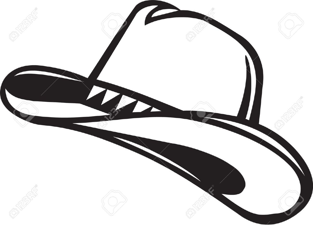 Cowboy Hat Clipart Black And White Hvgj