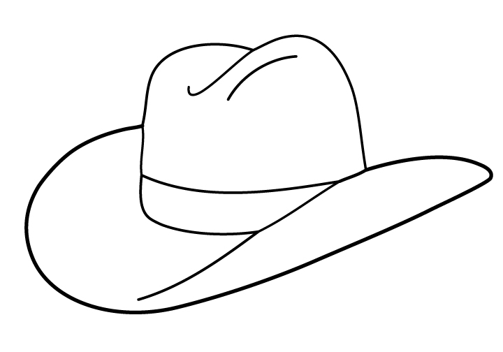 Cowboy Hat To Draw