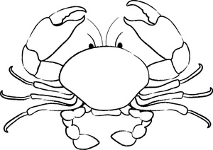 Crab Clipart Image Crab Coloring Page