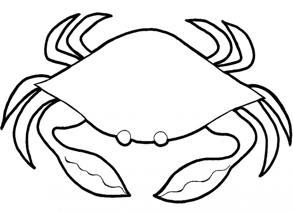 Crab Pictures To Color Az Coloring Pages