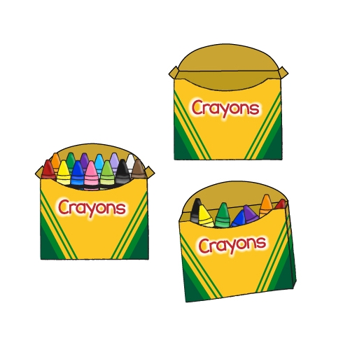 Crayon And Crayon Box Clipart Blossoms Of Blue