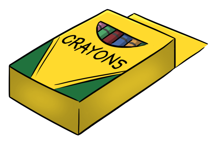crayon box clipart free clipart images - Cartoon Pictures Of Crayons