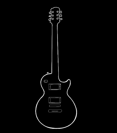 guitar outline