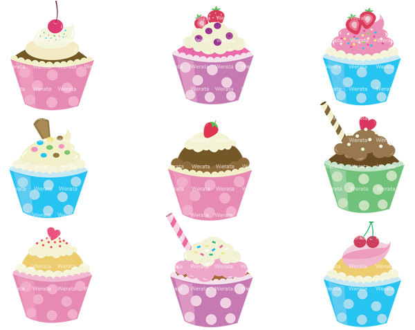 Cupcake Border Clipart Free Clip Art Images