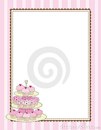 Cupcake Border Royalty Free Stock Photo Image