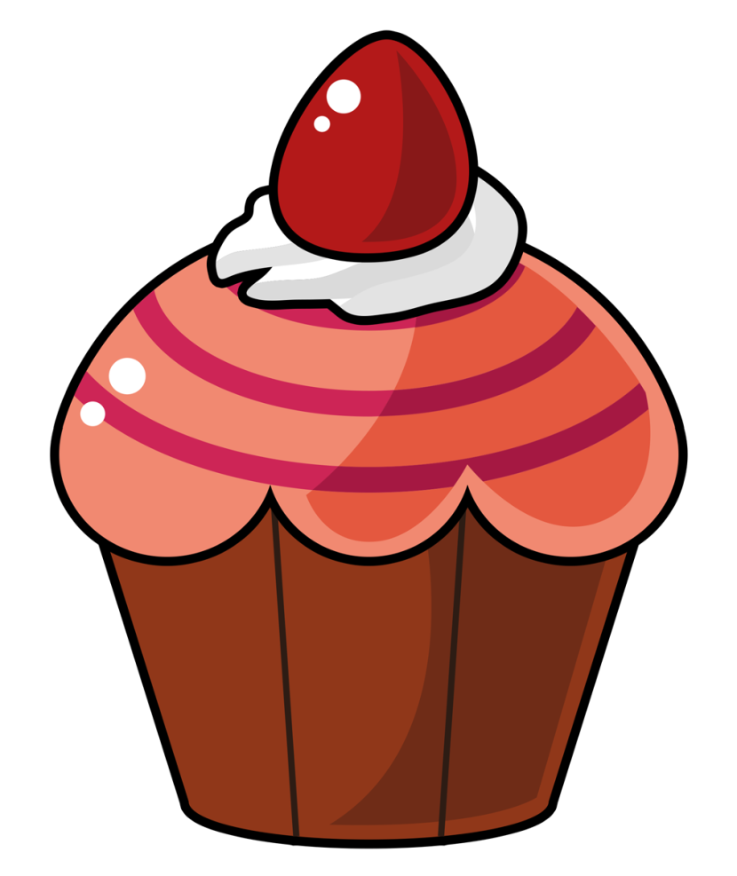 Cupcake Cartoon Red