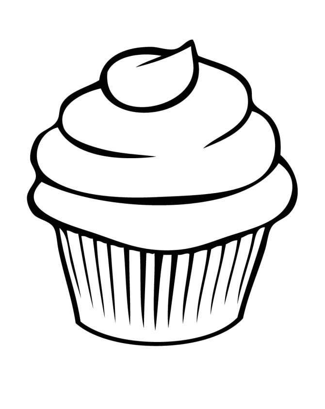 Best Cupcake Outline 8274 Clipartion