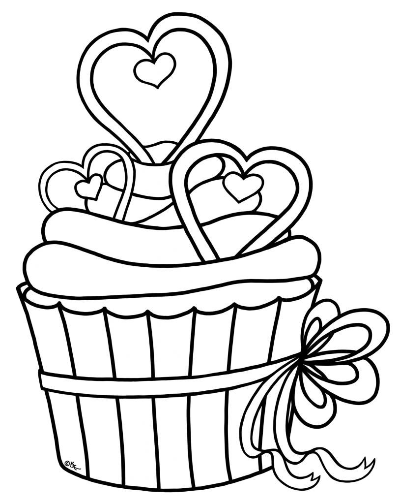 Cupcake outline - Coloriage cupcake ...