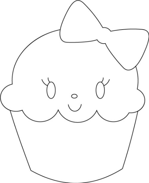 Cupcake Templates Cutouts Cupcake On It I Have A Cute