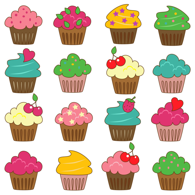 Cupcakes Border Free Clipart Images