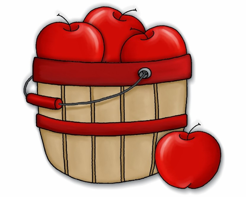 Cute Apple Basket Clipart Free Clipart Images