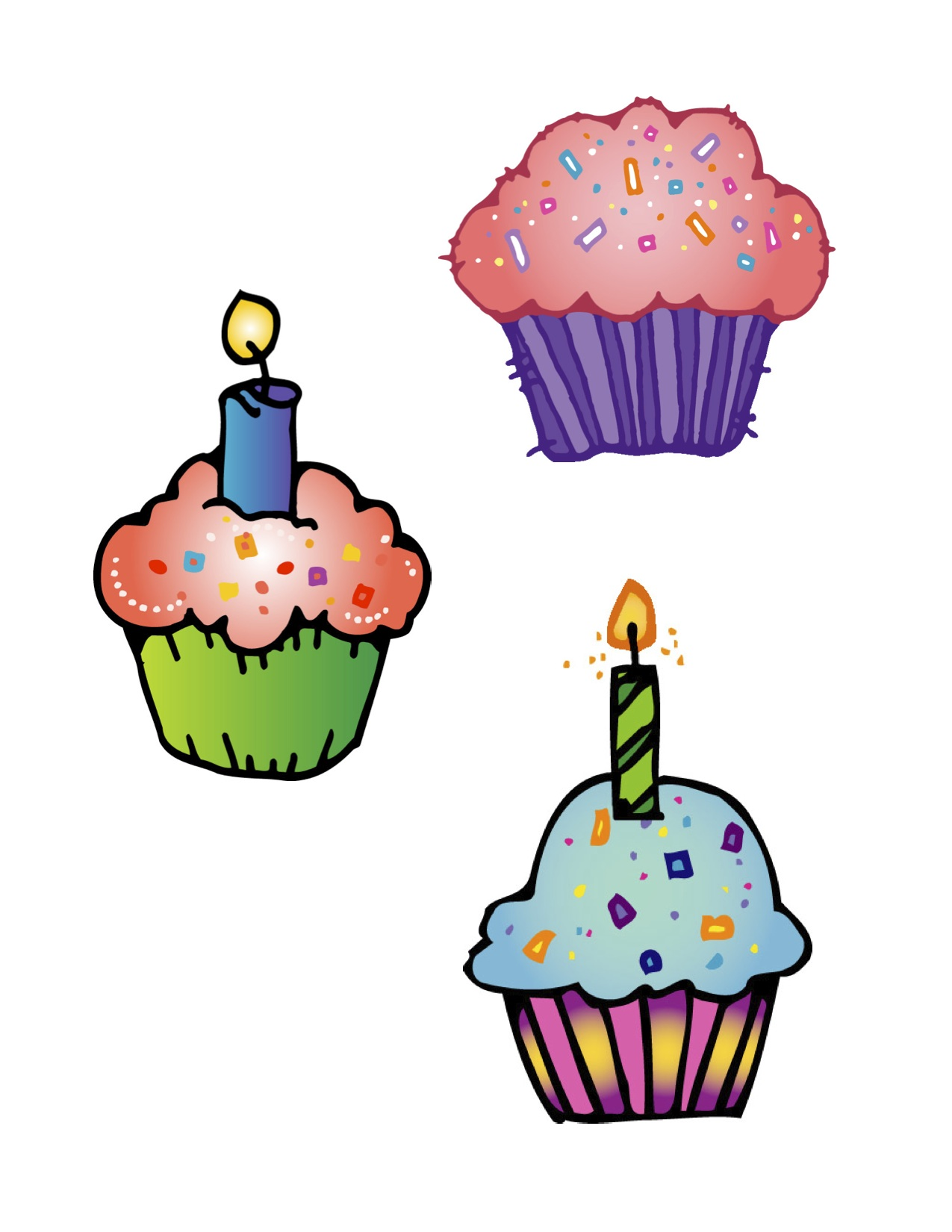 Happy birthday cupcake. Best clipart clipartion com