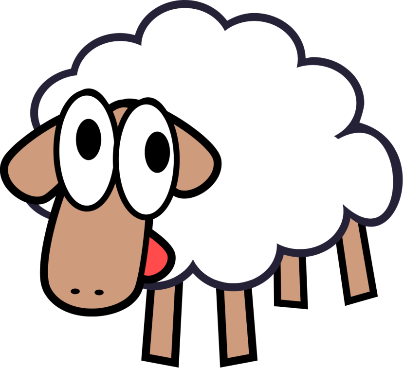 Cute Cartoon Sheep Clipart Free Clipart