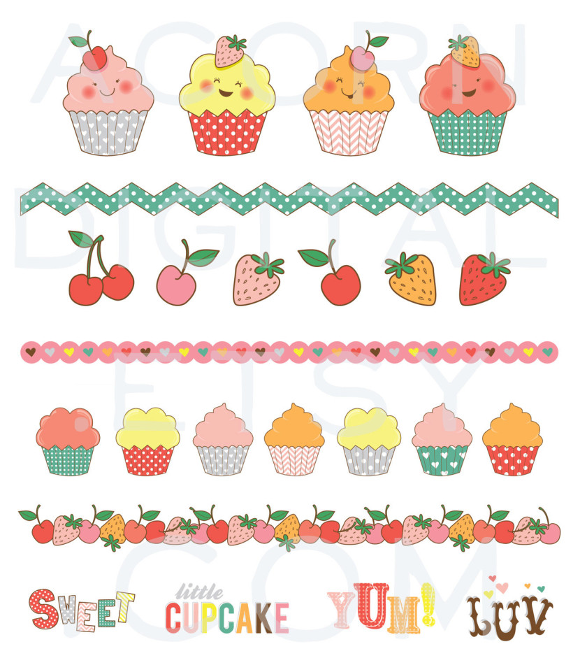 Cute Cupcake Clipart Picture Gallery