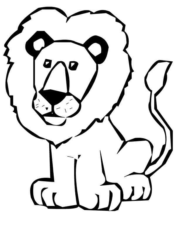 Cute Lion Clipart Black And White Free Clipart