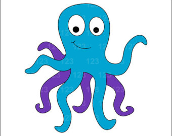 Cute Octopus Silhouette Free Clipart Images