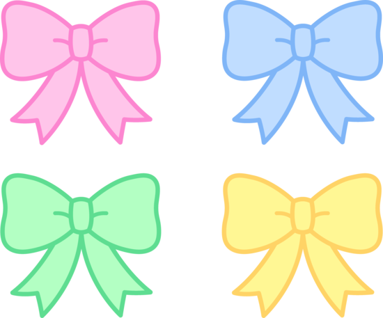 Cute Pastel Holiday Bows Free Clip Art