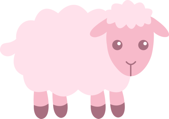 Cute Pink Sheep Clip Art Free Clip Art