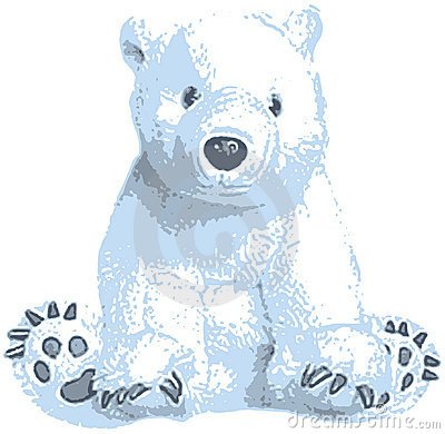 Cute Polar Bear Clip Art Stock Photo Image 0