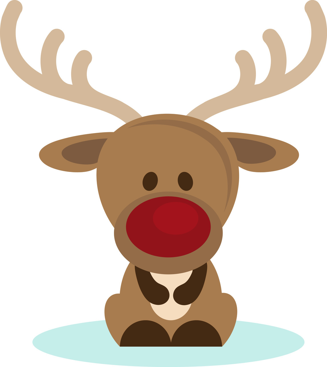 Cute reindeer head clipart - photo#15