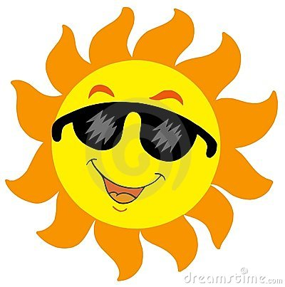 Sun With Sunglasses - Clipartion.com