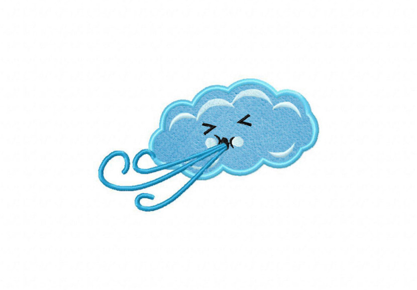 Cute Wind Blowing Cartoon Cloud Clipart Free Clip Art Images