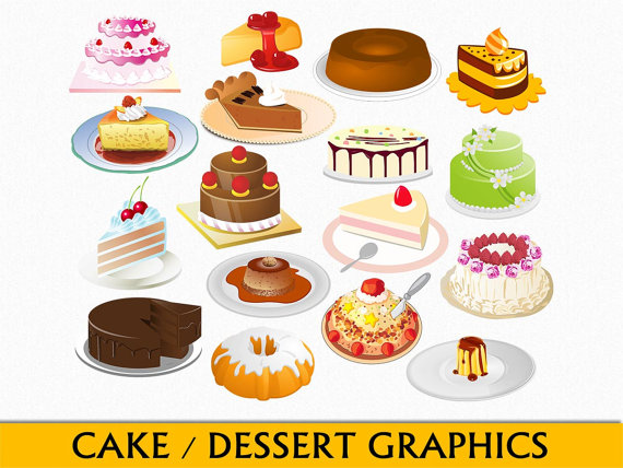 Dessert Clip Art Food Graphics Cake Clipartgraphicssupply