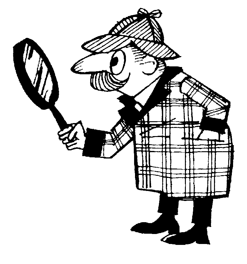 Detective Clipart Black And White Free Clipart