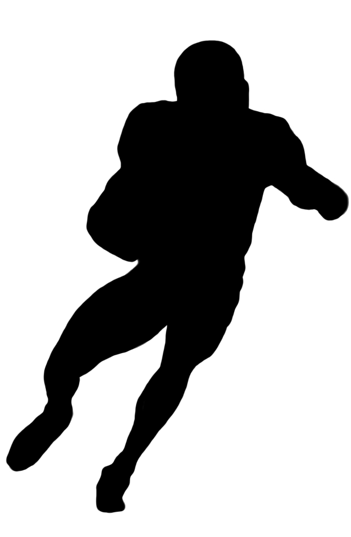 Football Player Clipart Black And White Clipartioncom