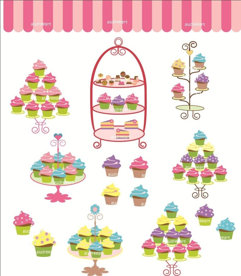 Digital Clip Art For All Use Cupcake Treeaudreeartclipart