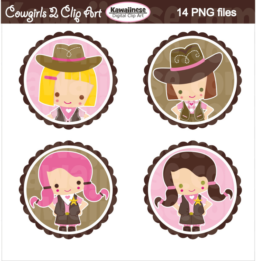 Digital Download Discoveries For Cowgirl Clip Art From Easypeach Com