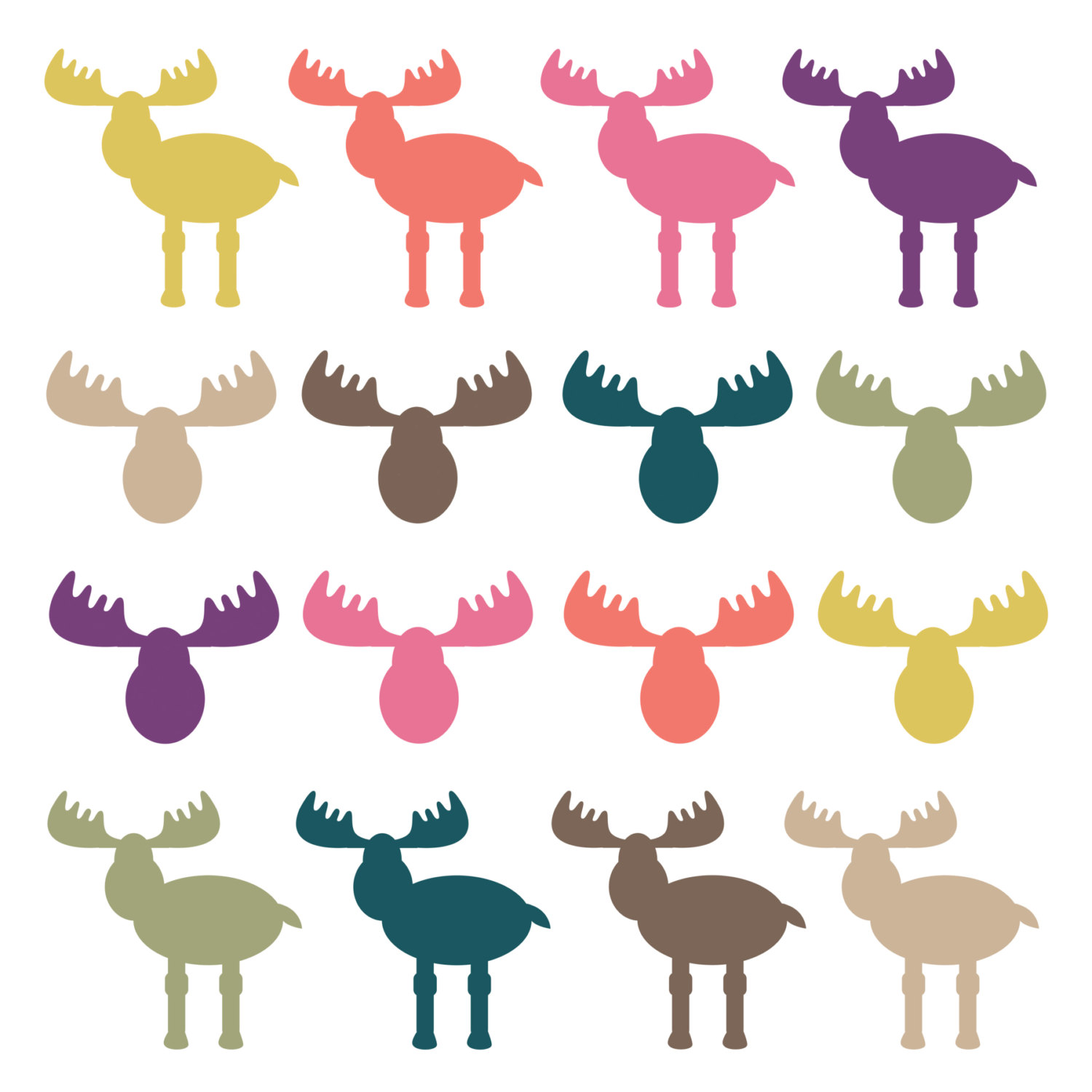 Digital Download Discoveries For Moose Clip Art From Easypeach Com