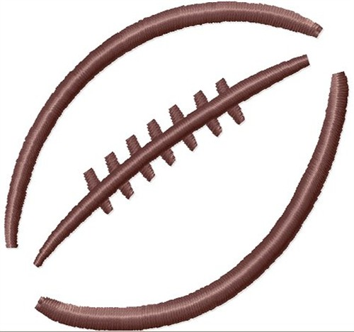 Digital Giggle Embroidery Design Football Outline 1 Inches H X